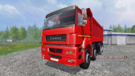 Die KamAZ-65802 8x4 v2.0 für Farming Simulator 2015