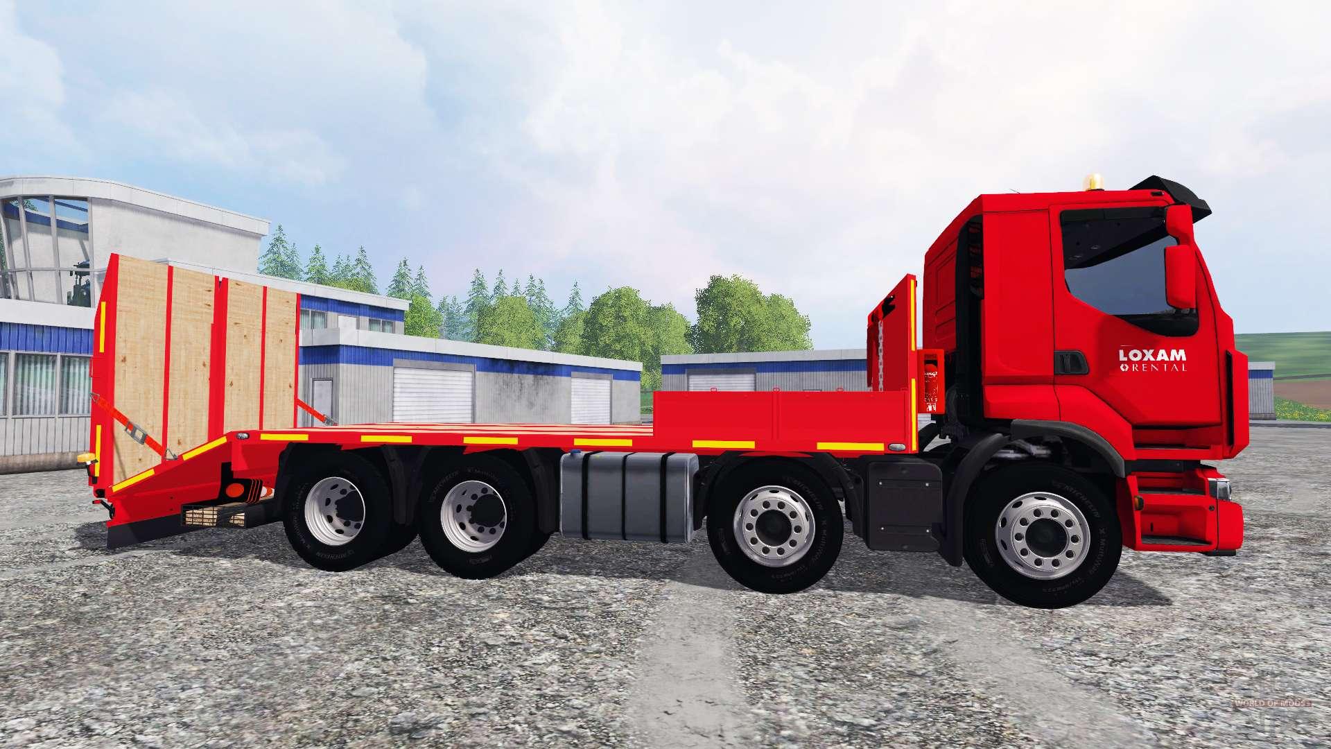 Premium LOXAM Pour Farming Simulator - Location remorque porte voiture loxam