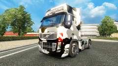 Haut us Army Schnee auf einem Volvo truck für Euro Truck Simulator 2