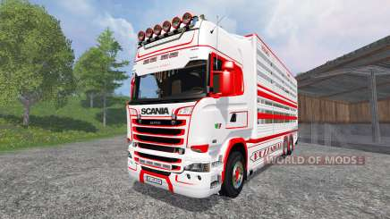 Scania R730 [cattle] v1.5 für Farming Simulator 2015