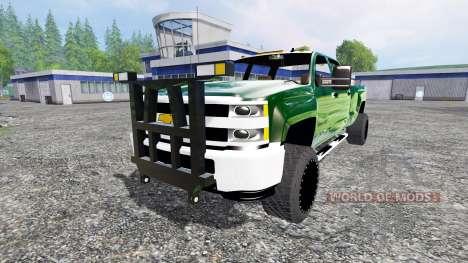 Chevrolet Silverado 3500 [plow truck] v2.0 für Farming Simulator 2015