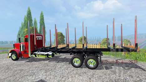 Peterbilt 388 [log truck] pour Farming Simulator 2015