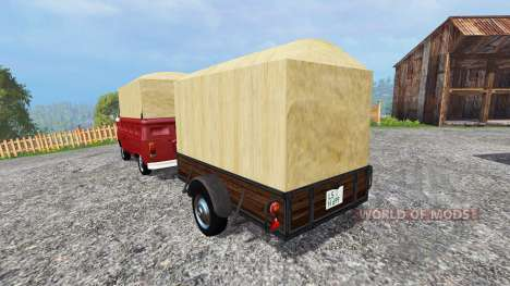Volkswagen Transporter T2B [trailer] v1.1 pour Farming Simulator 2015