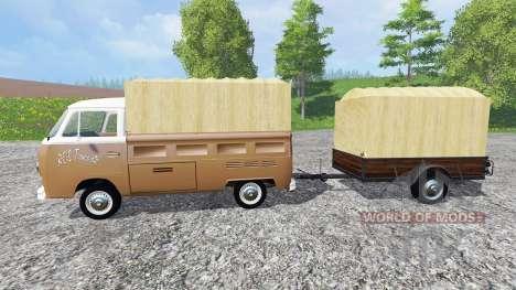 Volkswagen Transporter T2B [trailer] v1.2.1 pour Farming Simulator 2015