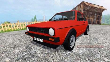 Volkswagen Golf I GTI 1976 v1.1 pour Farming Simulator 2015