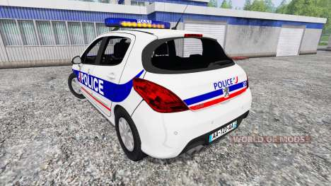 Peugeot 308 Police France pour Farming Simulator 2015