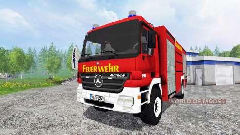 Mercedes-Benz Actros [feuerwehr] für Farming Simulator 2015