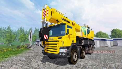 Scania P420 Liebherr LTF 1060 v1.1 pour Farming Simulator 2015