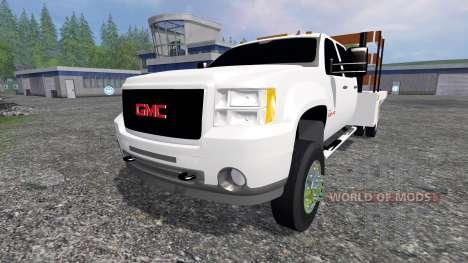 GMC Sierra 3500 [flatbed] v2.0 für Farming Simulator 2015
