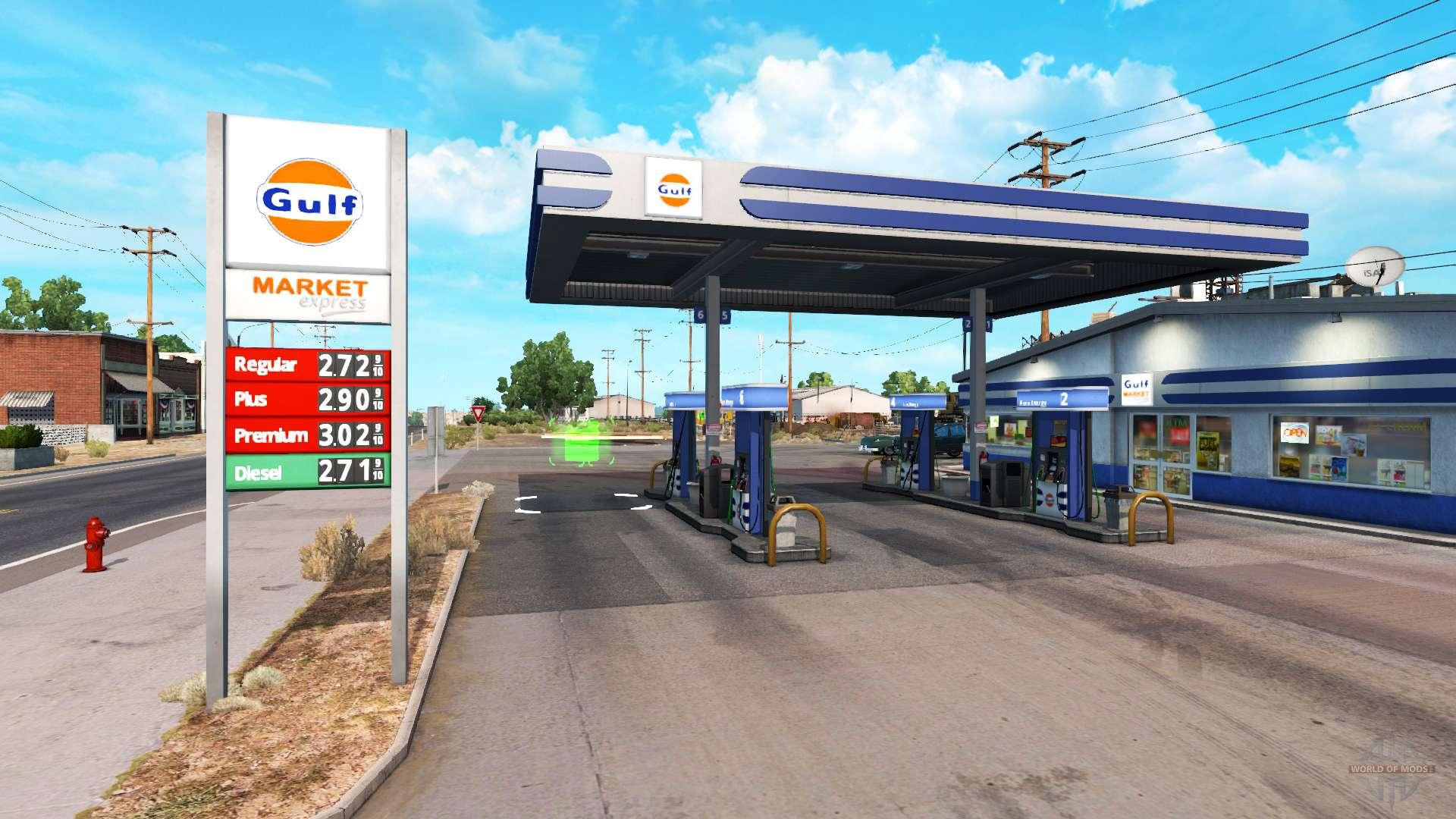 Réel de la station de gaz pour American Truck Simulator