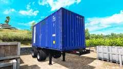 La semi-remorque conteneur pour American Truck Simulator