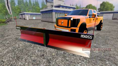 Ford F-250 [V-plow] pour Farming Simulator 2015