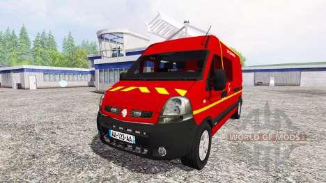 Renault Master [sapeurs-pompiers] v2.0 pour Farming Simulator 2015