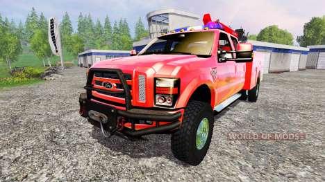 Ford F-350 [sapeur pompier] für Farming Simulator 2015