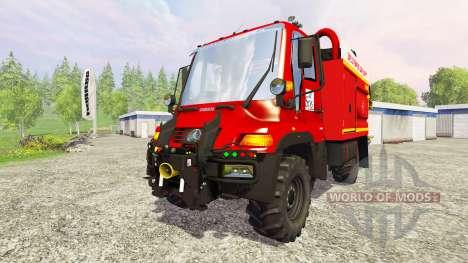 Mercedes-Benz Unimog U400 GIMAEX für Farming Simulator 2015