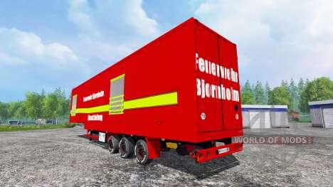La Semi-Remorque Fire Bjornholm Management pour Farming Simulator 2015