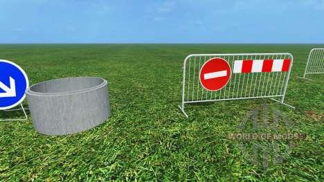 Construction Signs v1.1 für Farming Simulator 2015