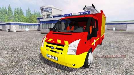 Ford Transit [sapeurs pompiers] pour Farming Simulator 2015