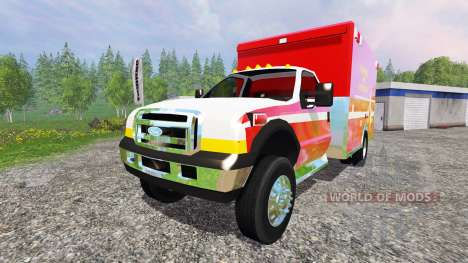 Ford F-350 [fire department] für Farming Simulator 2015