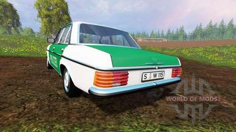 Mercedes-Benz 200D (W115) 1973 Police für Farming Simulator 2015