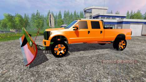 Ford F-250 [V-plow] für Farming Simulator 2015