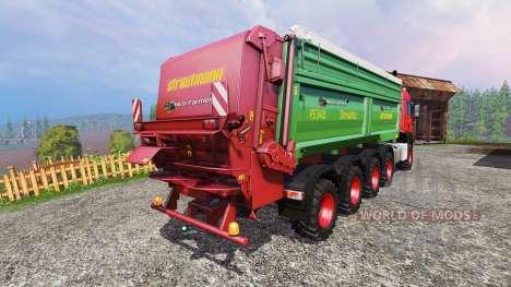MAN TGS 10x8 [manure] v1.1 pour Farming Simulator 2015