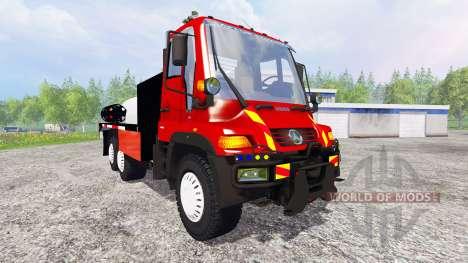 Mercedes-Benz Unimog U400 [sapeur pompier] pour Farming Simulator 2015