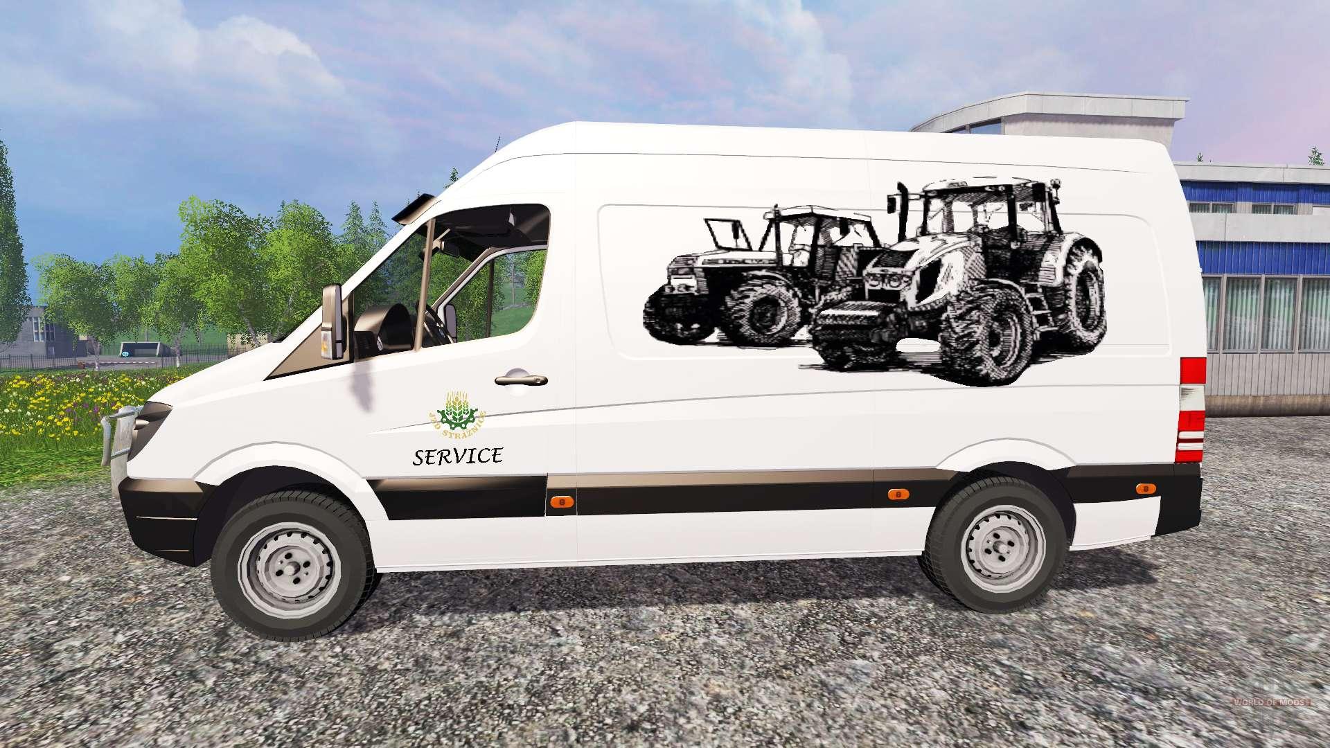 mercedes benz sprinte service f r farming simulator 2015. Black Bedroom Furniture Sets. Home Design Ideas