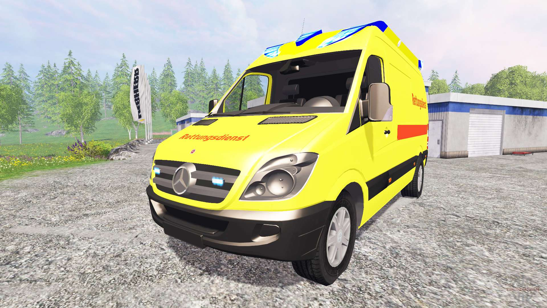 mercedes benz sprinter ambulance pour farming simulator 2015. Black Bedroom Furniture Sets. Home Design Ideas