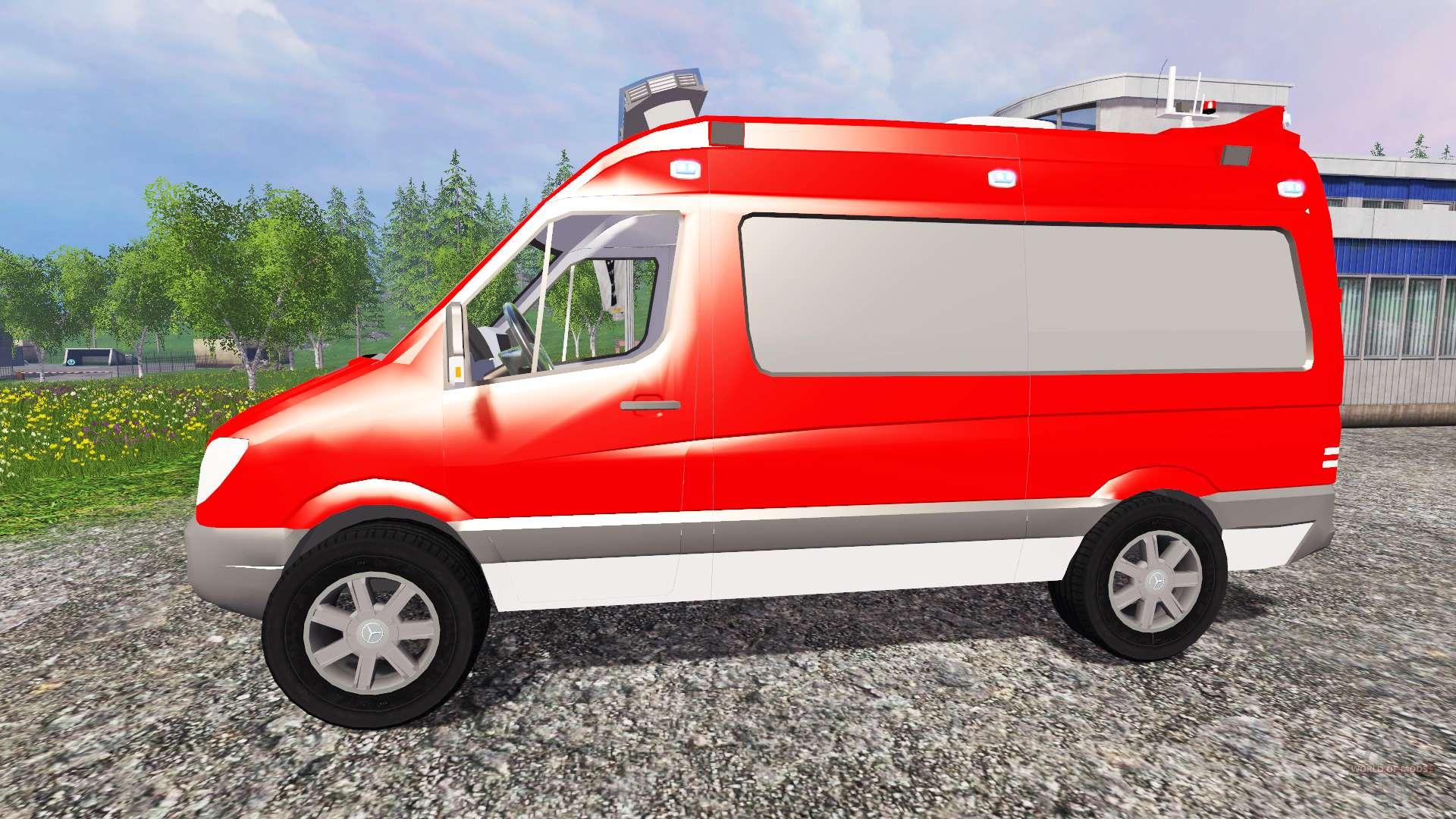 Mercedes benz sprinter elw pour farming simulator 2015 for Mercedes benz elw