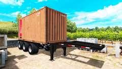 La semi-remorque avec un conteneur de 20 livres pour American Truck Simulator