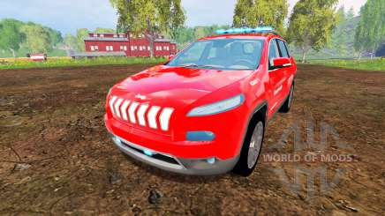 Jeep Cherokee KL 2014 [feuerwehr] pour Farming Simulator 2015