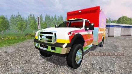 Ford F-350 [fire department] pour Farming Simulator 2015