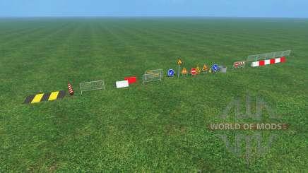 Construction Signs v1.1 pour Farming Simulator 2015