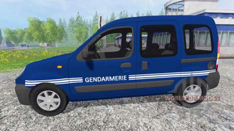 Renault Kangoo Gendarmerie pour Farming Simulator 2015