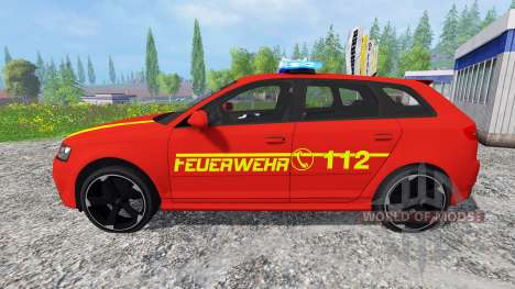 Audi RS3 8PA [feuerwehr] v0.9 pour Farming Simulator 2015