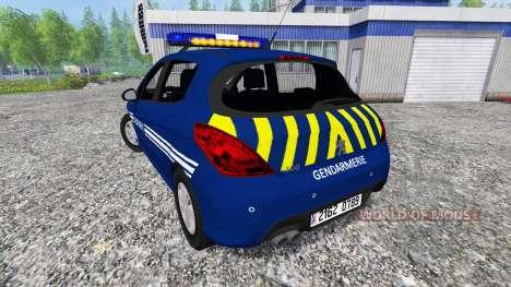 Peugeot 308 Gendarmerie pour Farming Simulator 2015