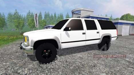 Chevrolet Suburban 1998 v2.0 pour Farming Simulator 2015