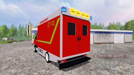 Volkswagen Crafter Rettungsdienst pour Farming Simulator 2015