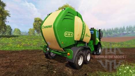 Mercedes-Benz Unimog [Krone round baler] für Farming Simulator 2015