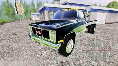 GMC 3500 1986 [flatbed] pour Farming Simulator 2015