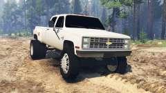 Chevrolet Silverado Dually Crew Cab 1986 für Spin Tires
