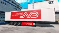 Norbert Dentressangle de la peau pour une remorque pour American Truck Simulator