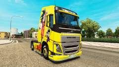Peau de Dragon Ball Z pour Volvo trucks pour Euro Truck Simulator 2