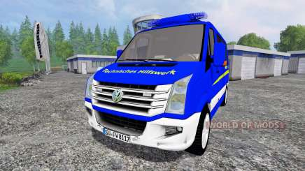 Volkswagen Crafter THW ELW pour Farming Simulator 2015
