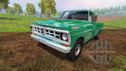 Ford F-100 1970 4x4 pour Farming Simulator 2015