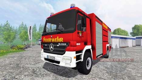 Mercedes-Benz Actros 4141 [feuerwehr] für Farming Simulator 2015