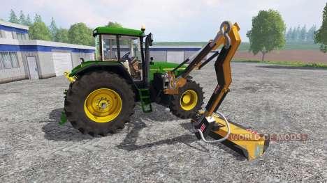 John Deere 7810 [mount mower] pour Farming Simulator 2015