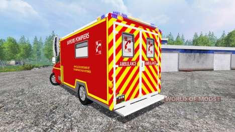 Renault Master 2016 [sapeurs-pompiers] für Farming Simulator 2015