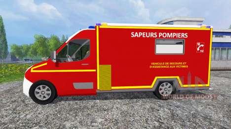 Renault Master 2016 [sapeurs-pompiers] pour Farming Simulator 2015